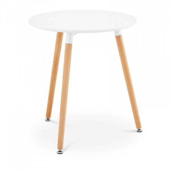 B-termék Asztal - kerek - Ø 60 cm - fehér