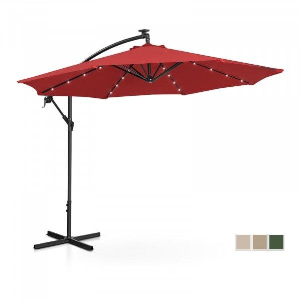 B-termék Lámpa formájú napernyő LED-el - piros - kerek - Ø 300 cm - dönthető