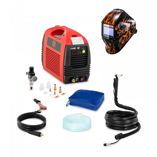Hegesztő készlet Plazmavágó - 50 A - 230 V - BASIC + Hegesztő sisak - Firestarter 500 - ADVANCED SERIES