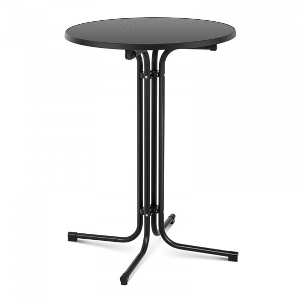 B-termék Bárasztal - Ø 80 cm - összecsukható - fekete