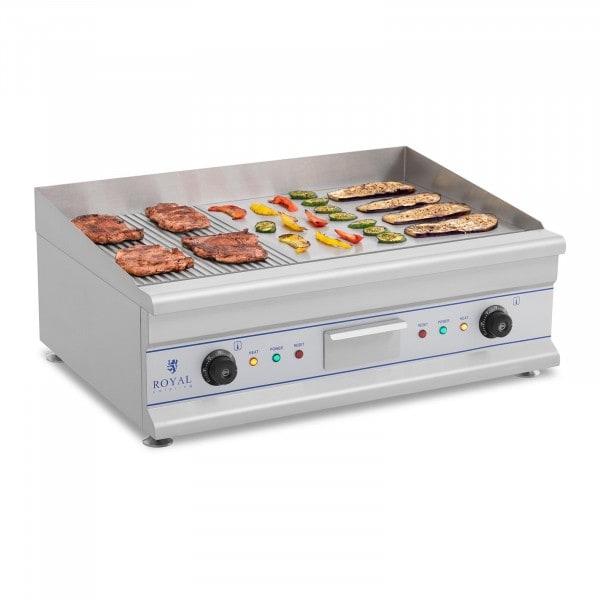 Elektromos grill - 75 cm - bordázott felületű - 2 x 3,2 kW