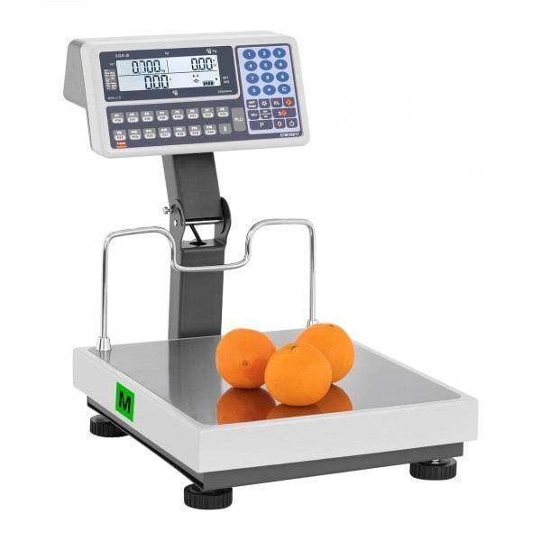 B-termék Árszorzós mérleg magas jelzővel - hitelesített - 30 kg/10 g - 60 kg/20 g