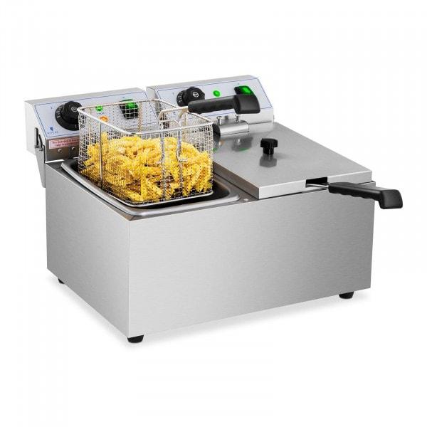 B-termék Vendéglátóipari fritőz - 2 x 8 liter - 230 V