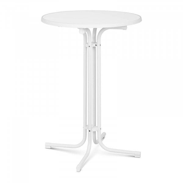 B-termék Bárasztal - Ø 80 cm - összecsukható - fehér