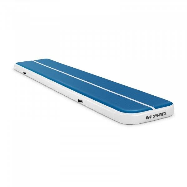 B-termék Felfújható tornaszőnyeg - 500 x 100 x 20 cm - 250 kg - kék/fehér