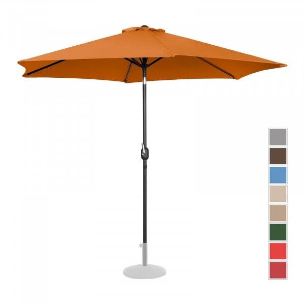 B-termék Nagy napernyő - narancssárga - hatszögletű - Ø 300 cm - dönthető