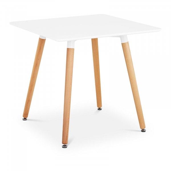 B-termék Asztal - négyzet - 80 x 80 cm - fehér