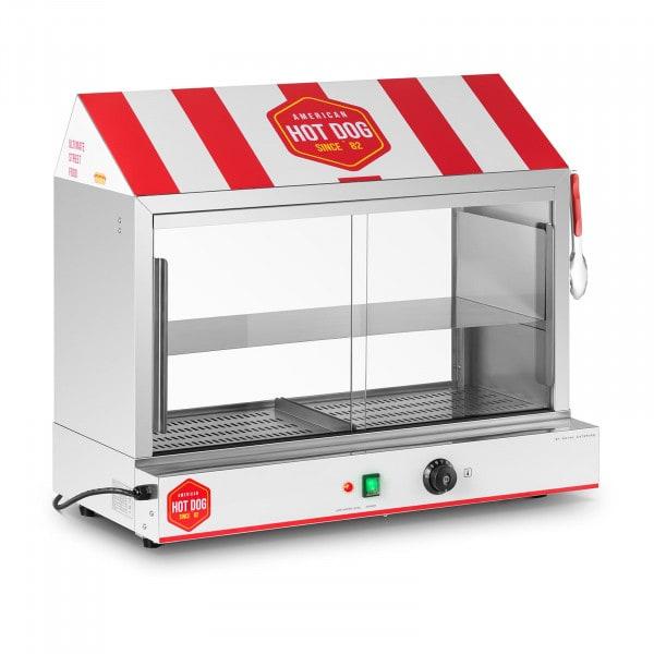 Hot dog gőzölő - 300 virsli - 100 zsemle - 2400 W