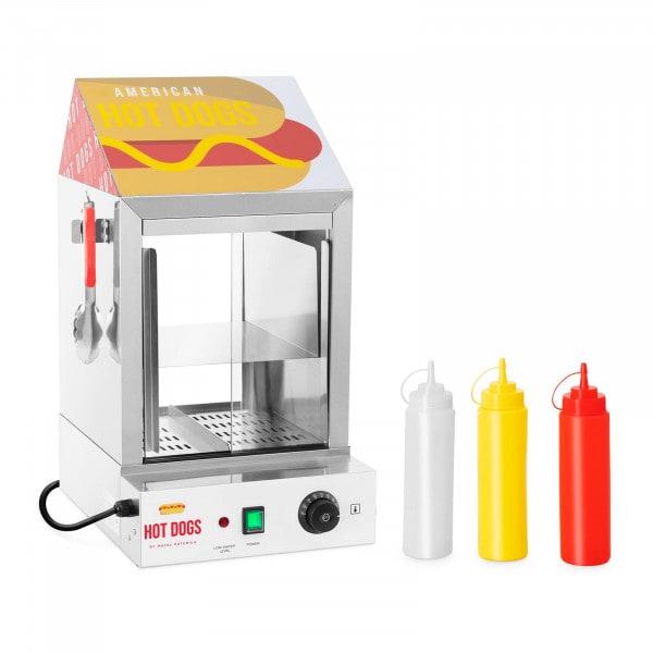 Hot dog gőzölő - 100 virsli - 25 zsemle - 1000 W