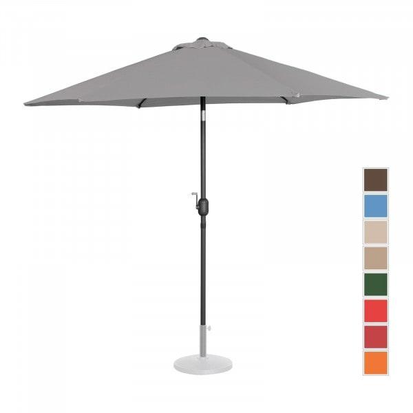B-termék Nagy napernyő - sötétszürke - hatszögletű - Ø 270 cm - dönthető