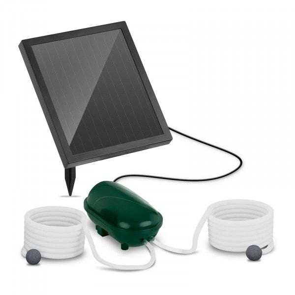 B-termék Napelemes tó levegőztető - 2 levegő beömlő - 200 l/h - akkumulátorral