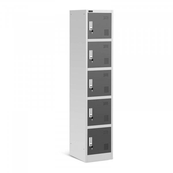 B-termék Fém szekrény - 5 polc - szürke