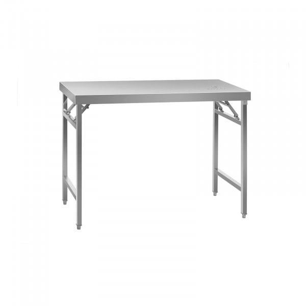 Összecsukható munkaasztal - rozsdamentes acél - 120 x 60 cm