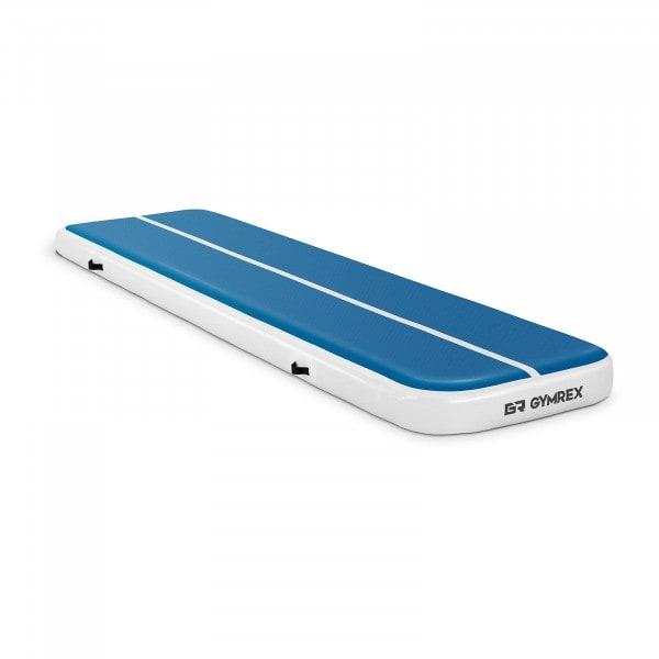 B-termék Felfújható tornaszőnyeg - 400 x 100 x 20 cm - 200 kg - kék/fehér
