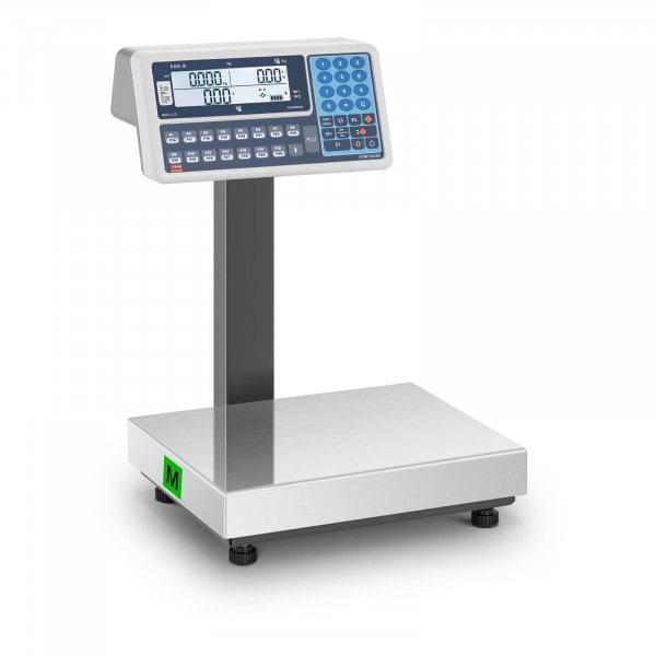 B-termék Árszorzós mérleg - hitelesített - 30 kg - LCD-kijelzővel