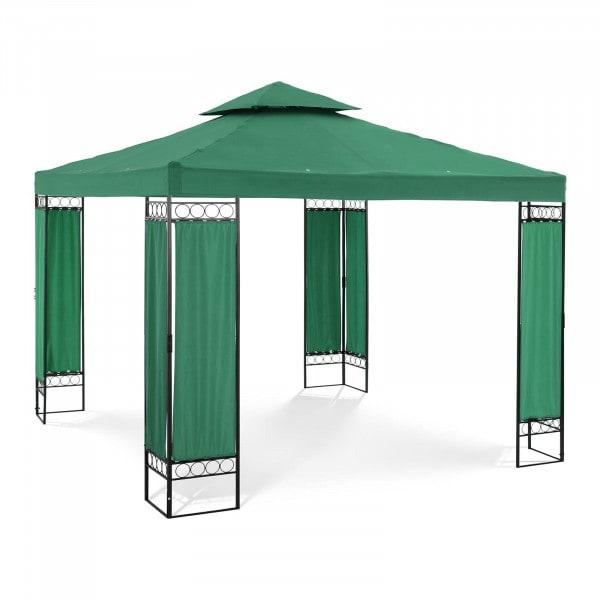 B-termék Kerti pavilon - 3 x 3 m - 160 g/m² - sötétzöld