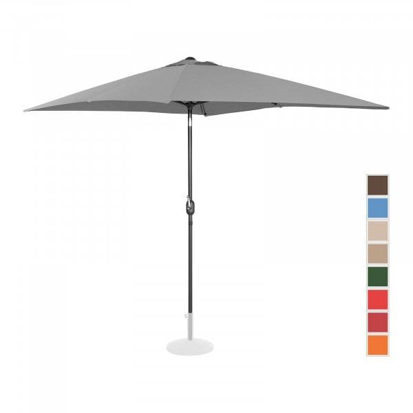 B-termék Nagy napernyő - sötétszürke - szögletes - 200 x 300 cm - dönthető