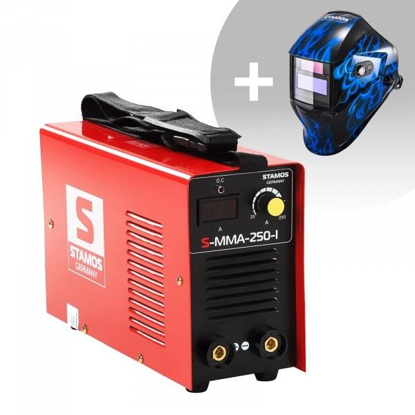 Hegesztő készlet MMA hegesztőgép - 250 A - 230 V - IGBT + Hegesztő sisak - Sub Zero - EASY SERIES