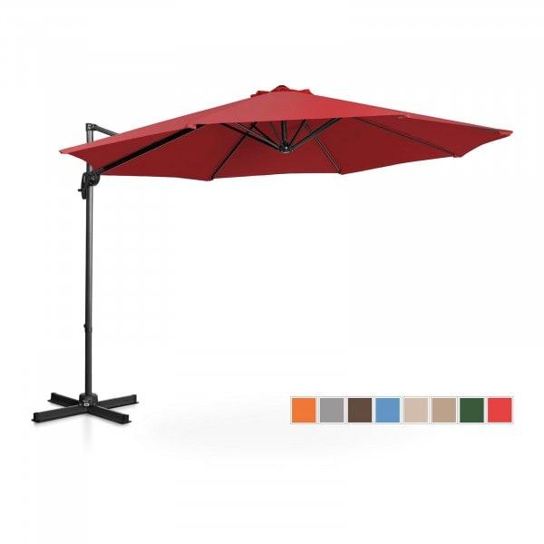 B-termék Lámpa formájú napernyő - bordó - kerek - Ø 300 cm - forgatható