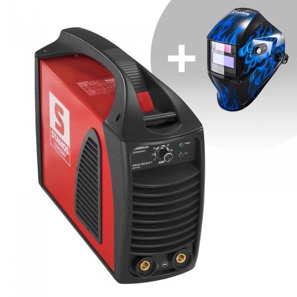 Hegesztő készlet MMA hegesztőgép - 120 A - Hot Start - IGBT + Hegesztő sisak - Sub Zero - EASY SERIES