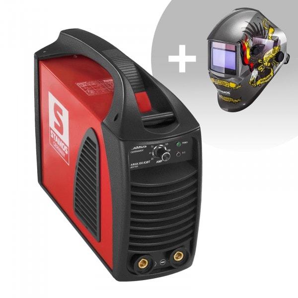 Hegesztő készlet MMA hegesztőgép - 180 A - Hot Start - IGBT + Hegesztő sisak - Eagle Eye – ADVANCED SERIES