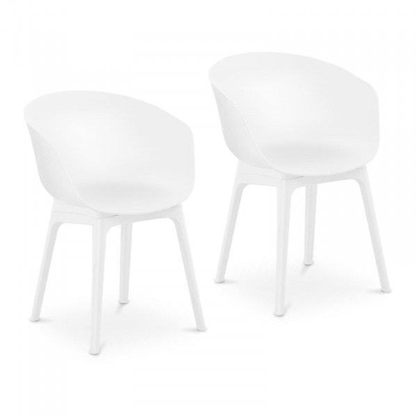 B-termék Szék - 2 db-os készlet - 150 kg-ig - ülőfelület 60 x 44 cm - fehér