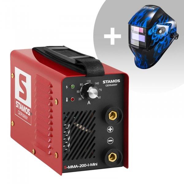 Hegesztő készlet MMA hegesztőgép - 200 A - 230 V - IGBT + Hegesztő sisak - Sub Zero - EASY SERIES