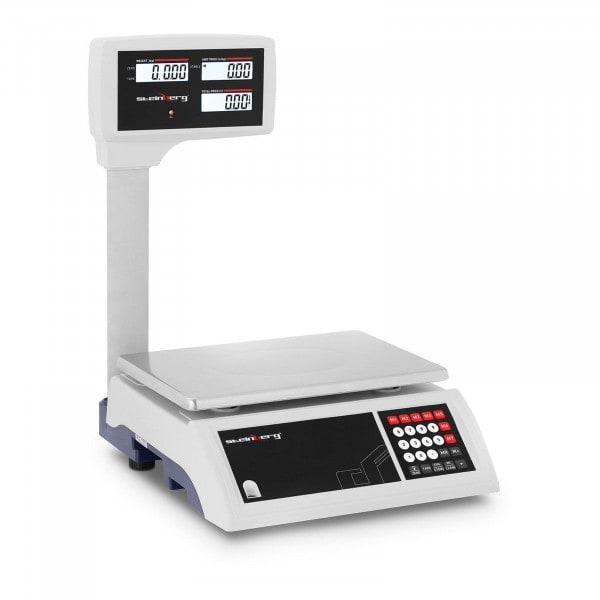 B-termék Ellenőrző mérleg - 30 kg / 5 g - LCD kijelző