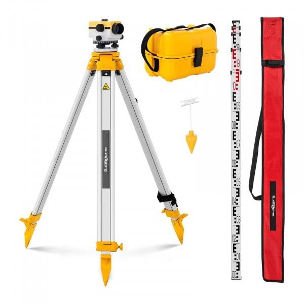 B-termék Szintező eszköz - állvánnyal és szintező léccel - 24x nagyítás - 36 mm-es lencse - eltérés 2 mm - levegő kompenzátor