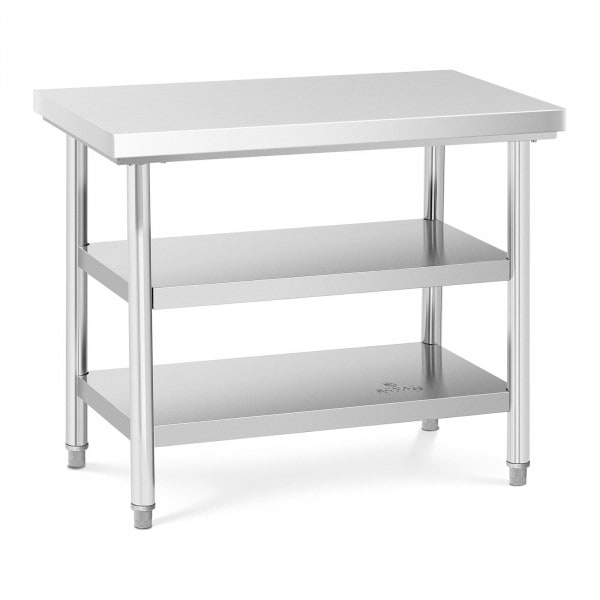 B-termék Rozsdamentes acél asztal - 100 x 60 cm - 600 kg - 3 szint