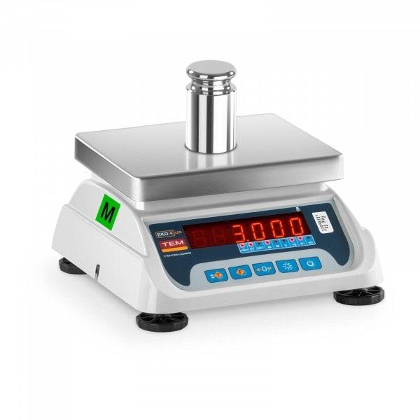 B-termék Asztali mérleg - hitelesített - 1,5 kg/ 0,5g - 3 kg/1 g - LED