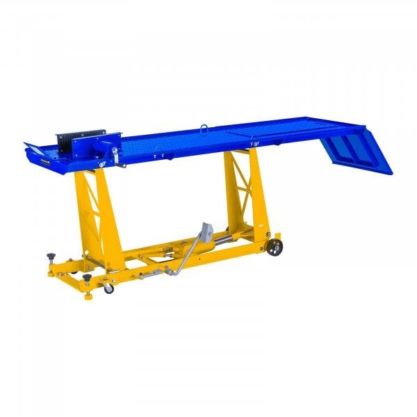 Motoremelő szerelőpad rámpával - 450 kg - 190 x 53 cm