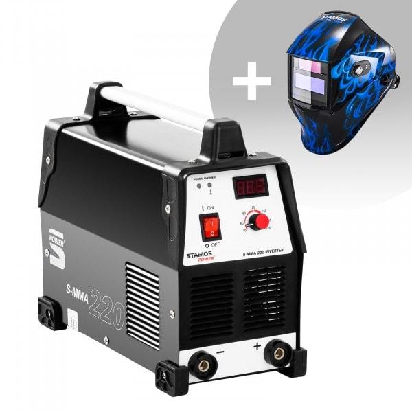 Hegesztő készlet MMA hegesztőgép - 220 A - 230 V + Hegesztő sisak - Sub Zero - EASY SERIES
