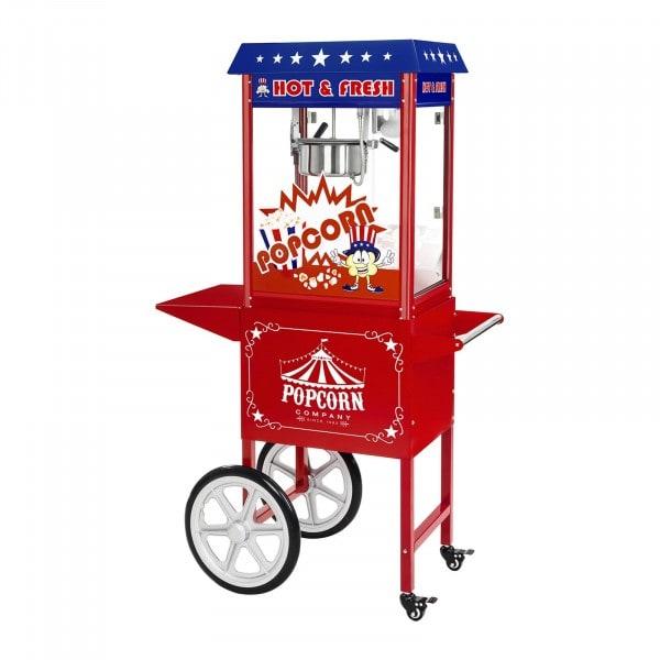 B-termék Pop-corn készítő gép - kocsival - USA-dizájn