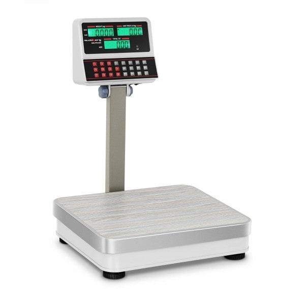 Árszorzós mérleg - 100 kg / 10 g - fehér - LCD