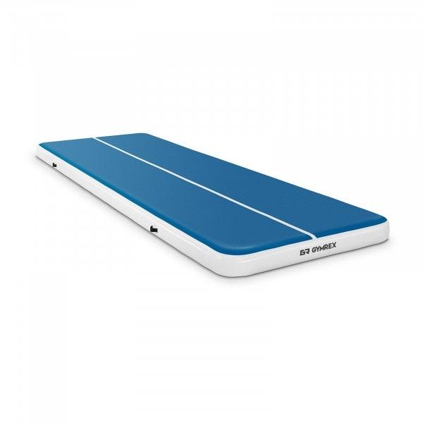B-termék Felfújható tornaszőnyeg - 600 x 200 x 20 cm - 400 kg - kék/fehér