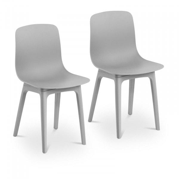 B-termék Szék - 2 db-os készlet - 150 kg-ig - ülőfelület 44 x 41 cm - szürke