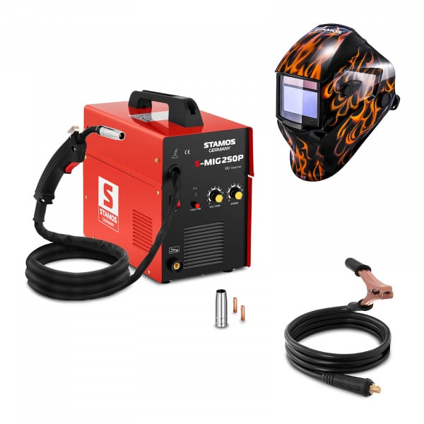 Hegesztő készlet MIG / MAG hegesztőgép - 250 A - 230 V - hordozható + Hegesztő sisak - Firestarter 500 - ADVANCED SERIES
