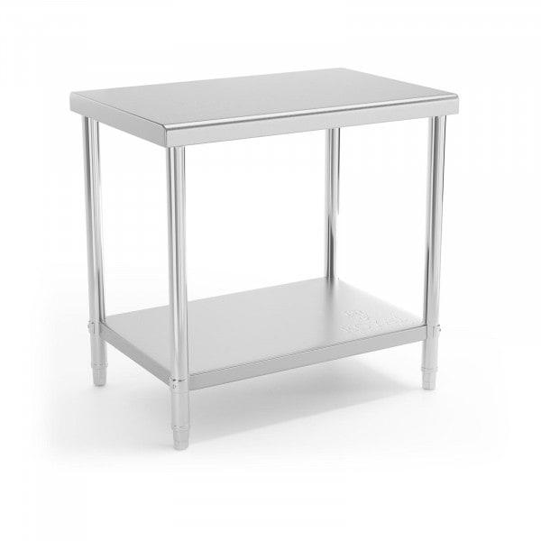 B-termék Rozsdamentes acél asztal - 90 x 60 cm - 210 kg terhelhetőség