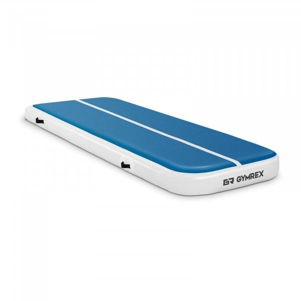 B-termék Felfújható tornaszőnyeg - 300 x 100 x 20 cm - 150 kg - kék/fehér