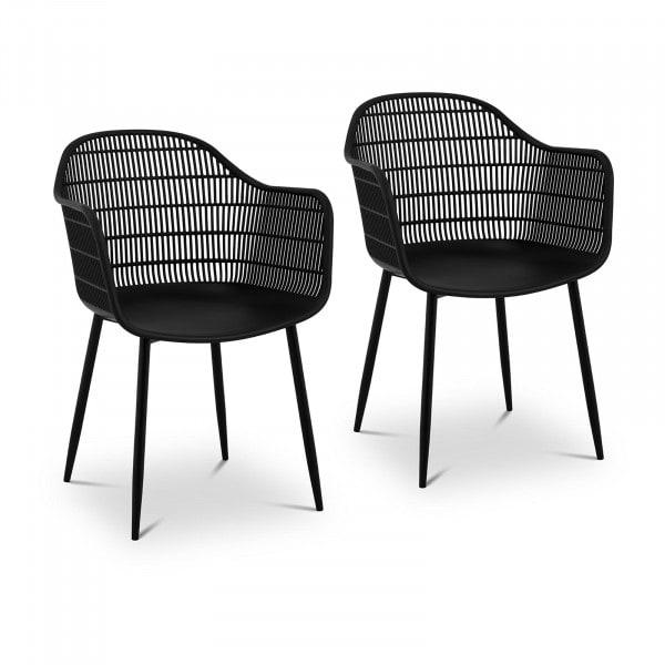 B-termék Szék - 2 db-os készlet - 150 kg-ig - ülőfelület 45 x 44 cm - fekete