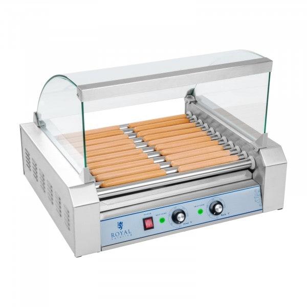 B-termék Hot Dog sütő - 11 görgővel - rozsdamentes acélból