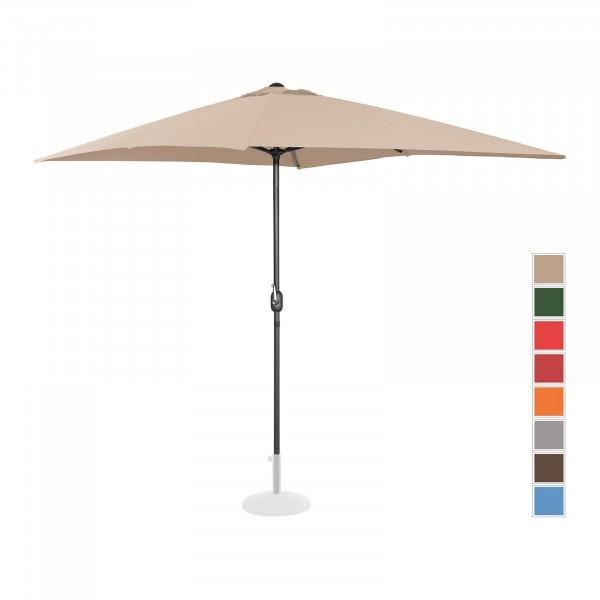 B-termék Nagy napernyő - krémszínű - szögletes - 200 x 300 cm