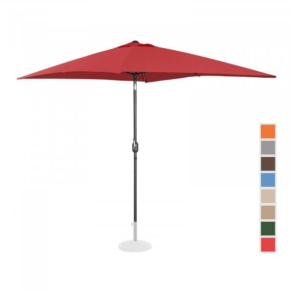 B-termék Nagy napernyő - bordó - szögletes - 200 x 300 cm - dönthető