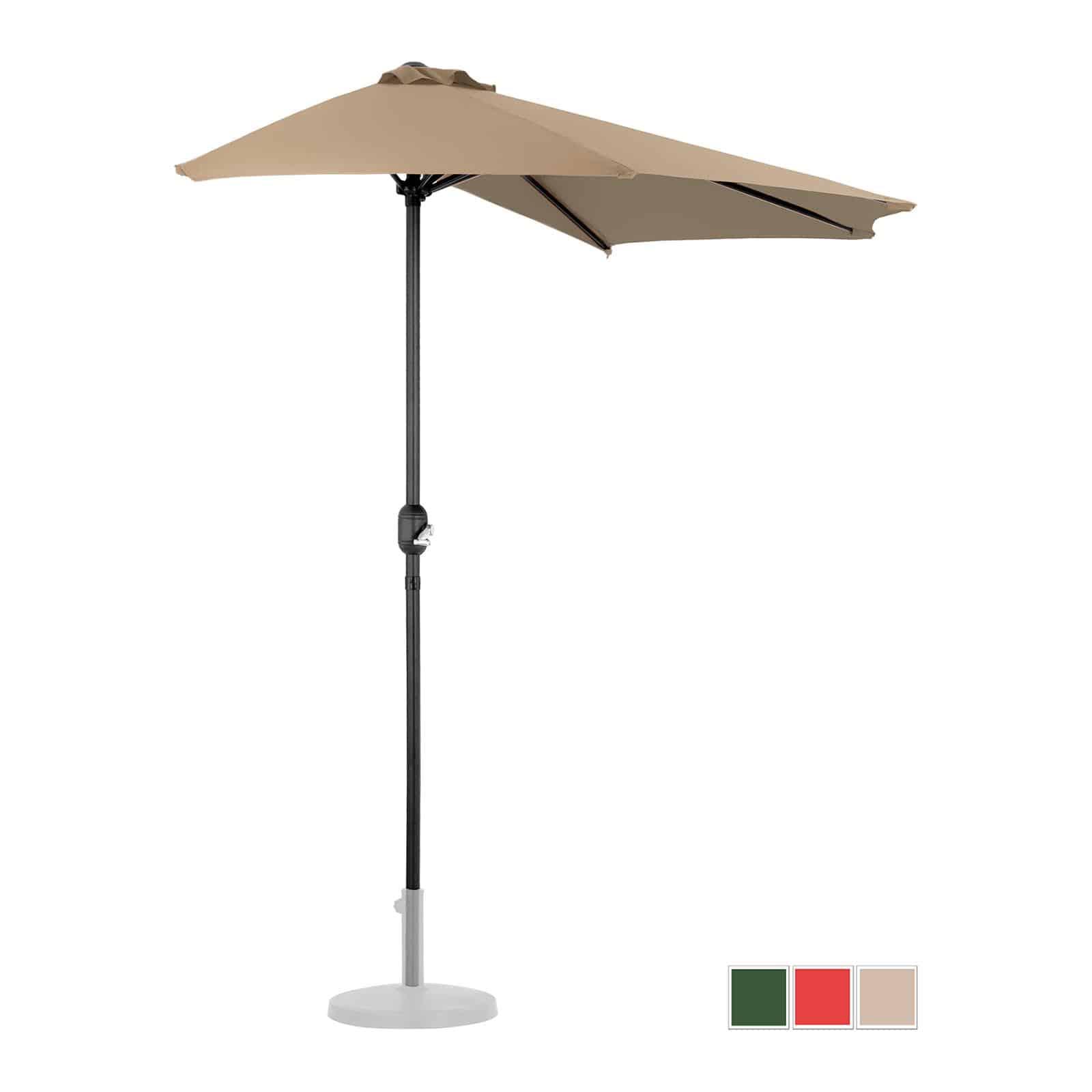 Félköríves napernyők