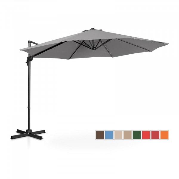 B-termék Lámpa formájú napernyő - sötétszürke - kerek - Ø 300 cm - forgatható