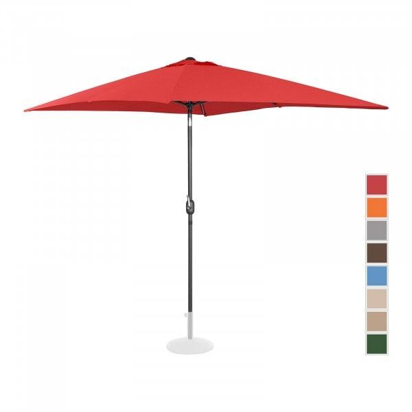 B-termék Nagy napernyő - piros - szögletes - 200 x 300 cm - dönthető