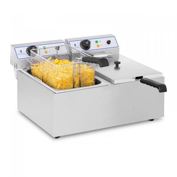 Elektromos fritőz - 2 x 17 liter
