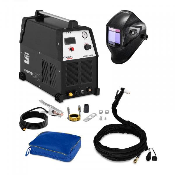 Hegesztő készlet Plazmavágó - 90 A - 400 V + Hegesztő sisak – Carbonic – PROFESSIONAL SERIES