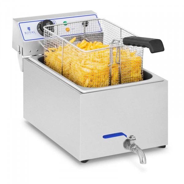Elektromos fritőz - 1 x 17 liter - halakhoz